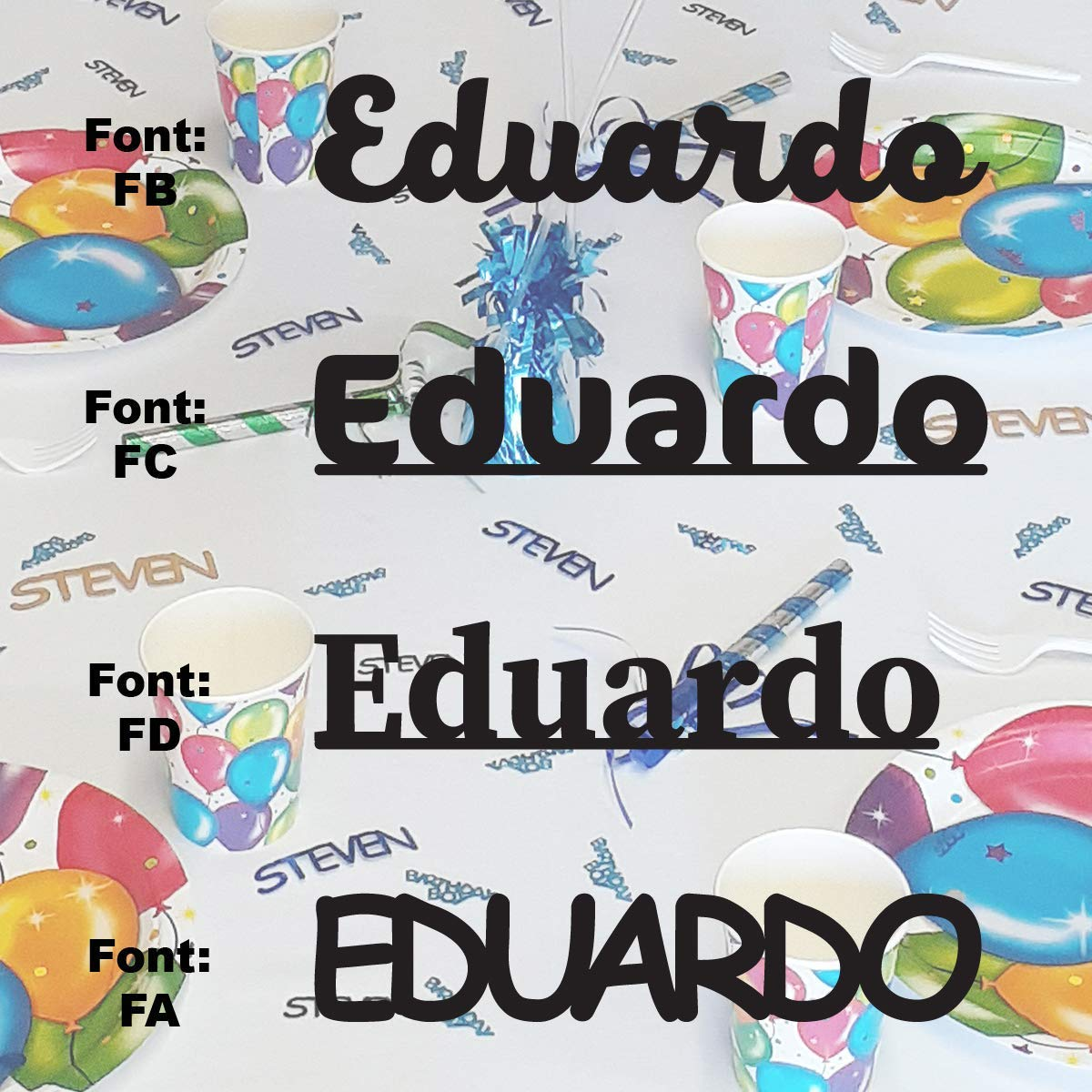 EDUARDO Reservation - Name trend rank Confetti in Includes Metallic Colors. 12
