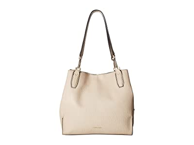 Calvin Klein Elaine Bubble Lamb Novelty Triple Compartment Tote (Sand) Tote Handbags