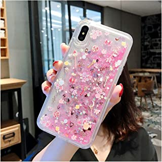QKKstore Compatible for iPhone X Xs Max Xr 6 6S 7 8 Plus Sailor Moon Pretty Girl Glitter Star Flowing Back Cover,A,for iPhone 6Splus