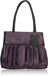 Fristo women's handbags (FRB-003) Purple and Black