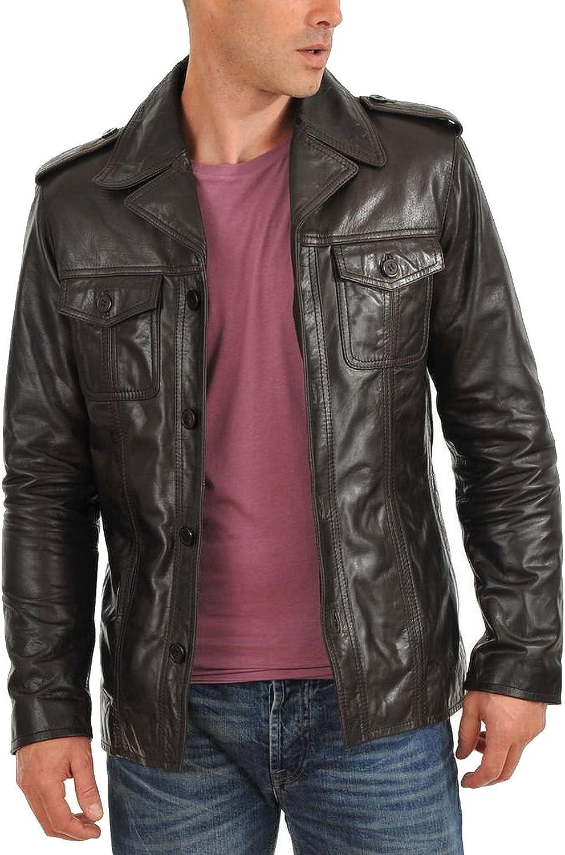 Laverapelle Men's Brown Genuine Lambskin Leather Jacket - 5108