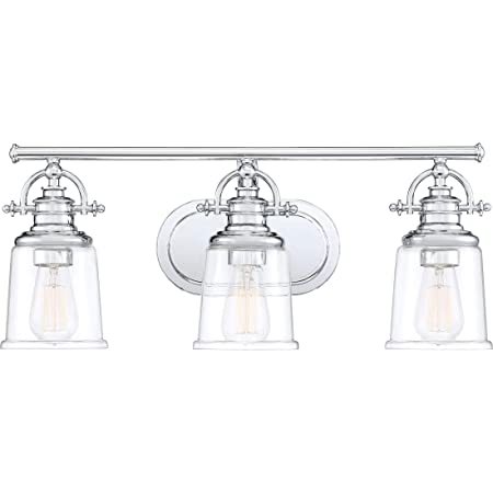 Quoizel Grt83003c Grant Vanity Bath Lighting 3 Light 300 Watts Polished Chrome 10 H X 23 W Amazon Com