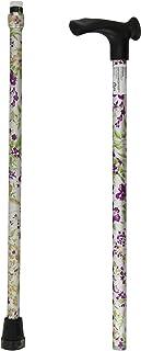 Homecraft - Bastón para diestros (empuñadura ergonómica, no es plegable), diseño floral