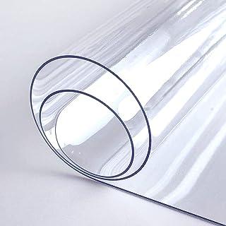 YQJ Nappe Transparente Imperméable,Film PVC 1.5mm épaisse, Cristal Anti-Tache protège Table Meuble pour Cuisine Restauran...