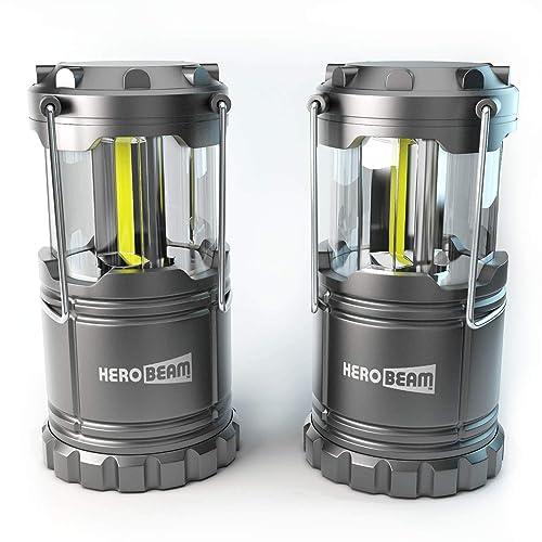 2 x Farol de Camping LED HeroBeam® - ¡Tecnología COB 2018 que emite 300