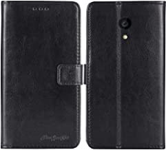TienJueShi Black Book-Style Flip Leather Protector Case Cover Skin Etui Wallet for Allview P4 PRO 4.2 inch