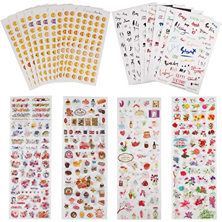 Album Diary Book Decor Planner Sticker DIY Paper Calendar Scrapbook Craft W