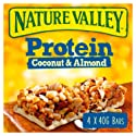 Nature Valley Protein Coconut and Almond Gluten Free Cereal Bars 40g (Pack of 4 bars)