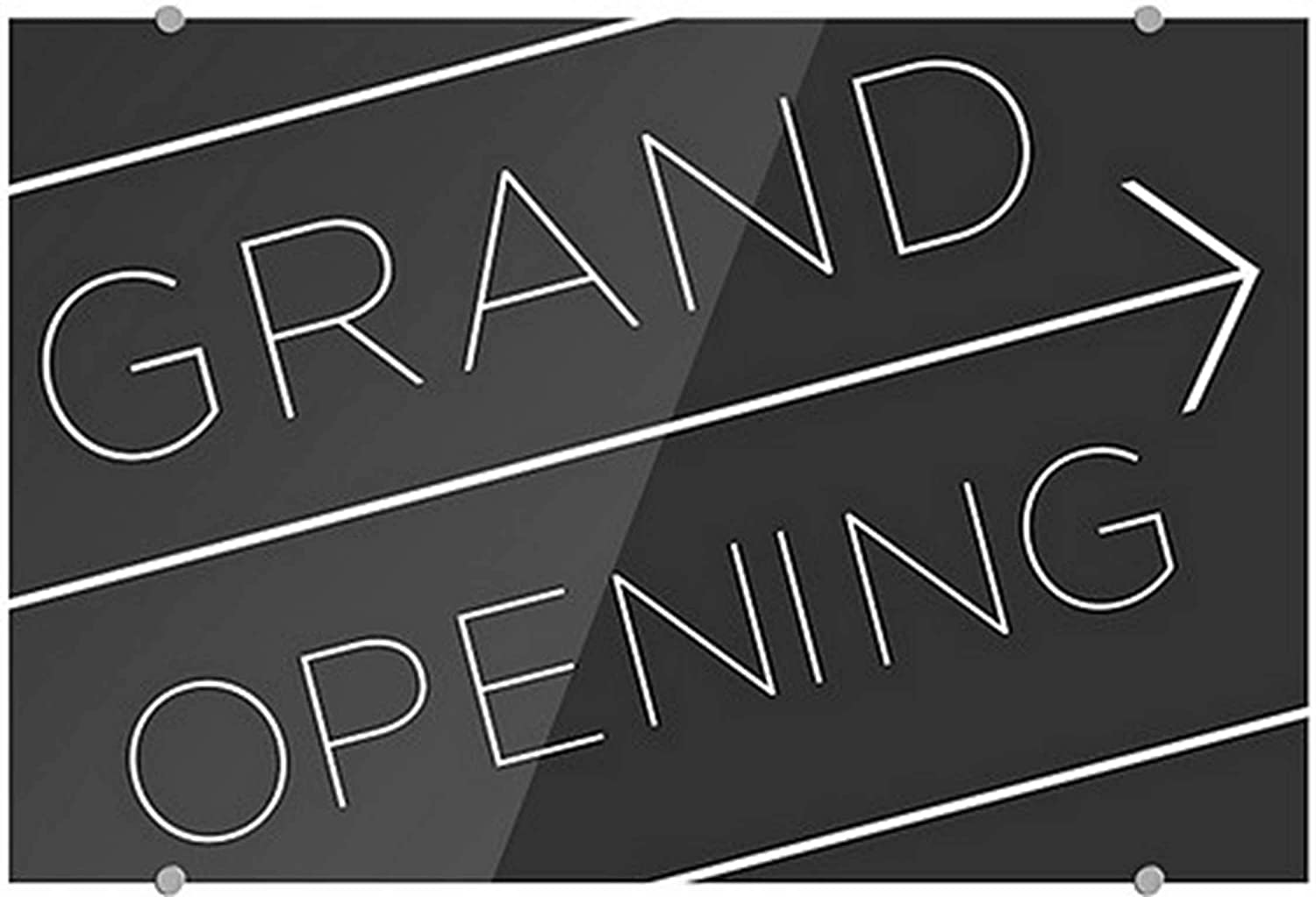 CGSignLab 2453127_5mbsw_36x24_None Grand Opening 3m Popular overseas -Basic Black Limited price