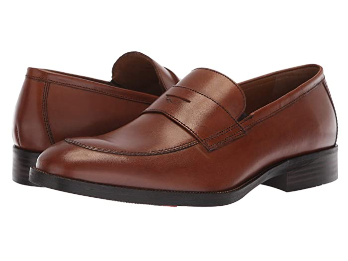 1950s Men's Clothing Johnston  Murphy Alcott Penny Tan Calfskin Mens Slip-on Dress Shoes $99.95 AT vintagedancer.com