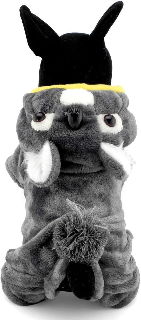 Halloween Katzen Grau Party Koala-Kost/üm Selmai Haustierkleidung f/ür Welpen kleine Hunde Fleece