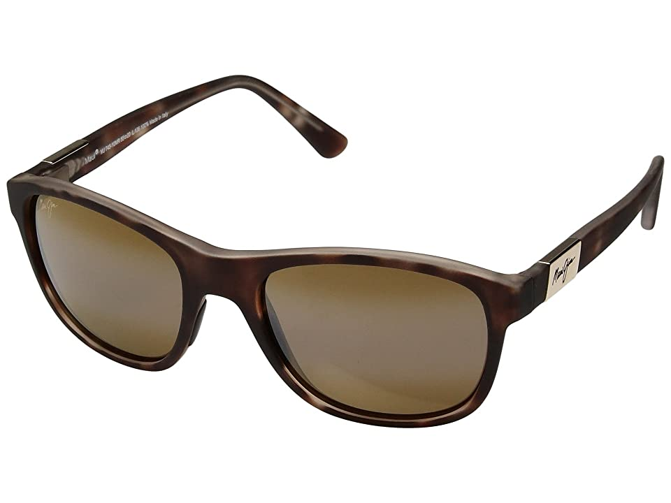 Maui Jim Wakea (Matte Tortoise Rubber/HCL Bronze) Athletic Performance Sport Sunglasses