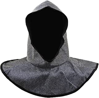 Knights Chainmail Headpiece,Silver, Black,One Size