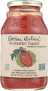 Cucina Antica Tomato Basil Cooking Sauce - Case of 12 - 25 oz.