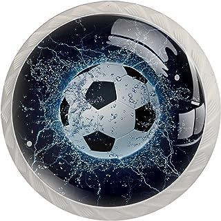 Poignées de Tiroir pour armoire,tiroir,coffre,commode,etc., Chute de l'éclairage de l'eau de football