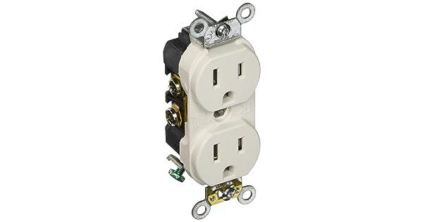 Leviton 131-TBR15-00W 15A Tamp Resis Outlet White