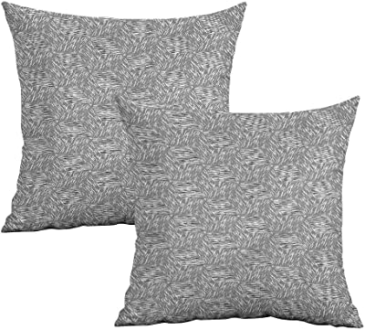 Amazon.com: Khaki Home Funda de almohada cuadrada abstracta ...