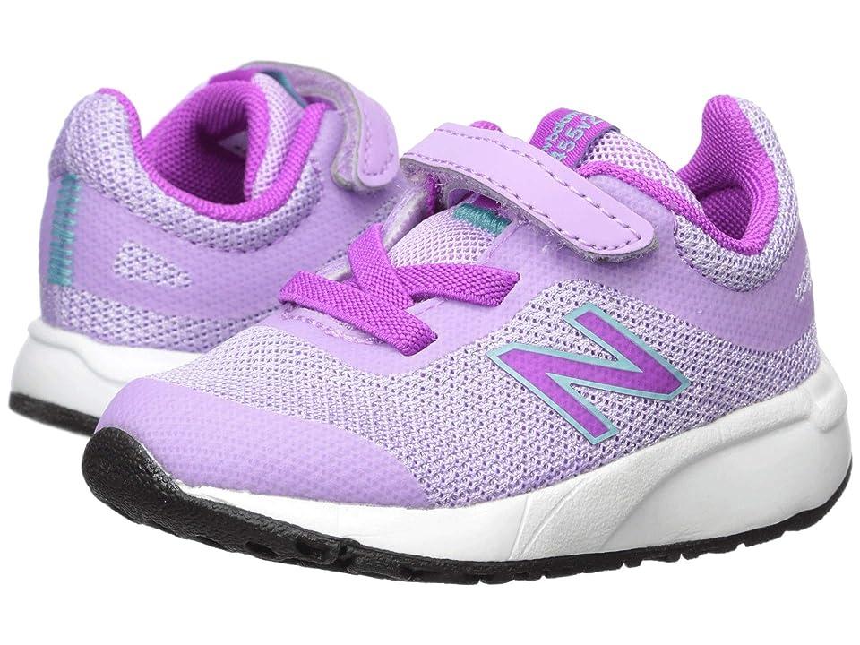 New Balance Kids 455v2 (Infant/Toddler) (Dark Violet Glo/Voltage Violet) Girls Shoes