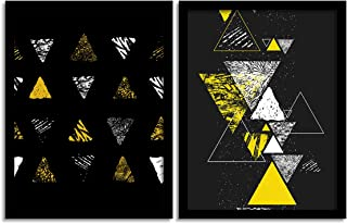 Painting Mantra Set of Black Mad Trio Matte Art Print, Painting for Home Décor, Paintings with Frame for Living Room(13.5 ...