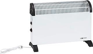 comprar comparacion Clatronic KH 3077 - Convector con termostato regulable, 3 niveles de temperatura, con regulador de potencia para un bajo c...