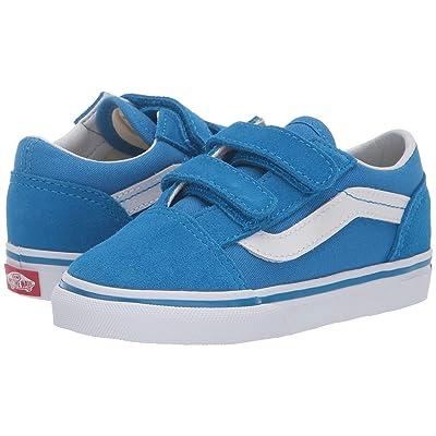 Vans Kids Old Skool V (Infant/Toddler) (Indigo Bunting/True White) Boys Shoes