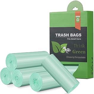 Small Trash Bags Garbage Bags, 2.6 Gallon Mini Compostable Trash Bags Bathroom Wastebasket Can Liners, Food Scrap Small Ki...