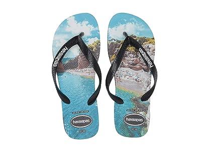 Havaianas Top Photoprint Sandal (Black/Black/Turquoise) Men