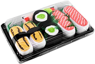 Rainbow Socks - Men's Women's - Sushi Socks Box Tamago Cucumber Salmon - 3 Pairs