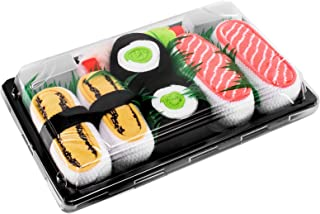 SUSHI SOCKS BOX 3 pairs Tamago Cucumber Salmon FUNNY GIFT! Made in Europe