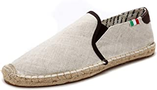 Hommes Espadrilles Couleur Unie Style Simple Slip-on Low-Top Casual Mocassins Plat Antidérapant Respirant Chaussures en To...
