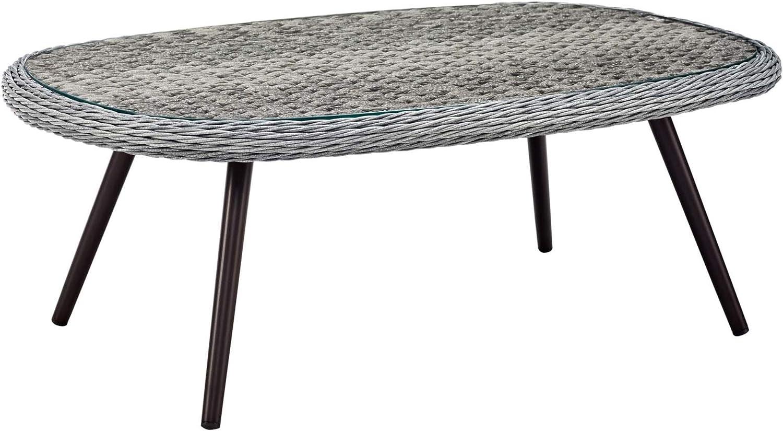 Ergode Endeavor Outdoor Regular discount Patio Wicker - Gray Rattan 2021 model Table Coffee