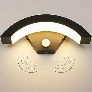 LEDMO Aplique Pared Exterior con Sensor de Movimiento 15W Lamparas de Pared 3000K IP65 Lampara Exterior Pared es Adecuada para Balcón, Jardín, Pasillo.