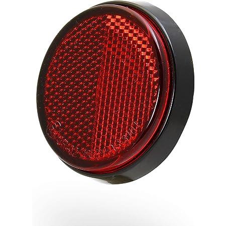 B Baosity 8 Tlg Universal Reflektor Katzenauge Rückstrahler Für Motorrad Kfz Rund Ø 55mm Rot Orange Auto
