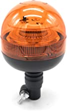 Rotativo LED flexible homologado para tractor, camion, o vehiculo con mechero a 12 o 24 voltios con luz ambar intermitente y destellante estrosbotica de emergencia, Irrompible.