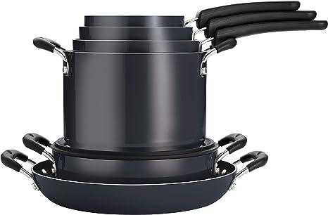 Tramontina Nesting 11 Pc Nonstick Cookware Set - Gray - 80156/043DS