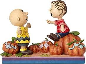 Enesco Peanuts by Jim Shore Charlie Brown and Linus Pumpkin Figurine, 5.5