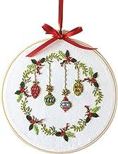 Crosstitching Kits DIY Kerst Borduurwerk voor beginners Volwassenen Kruissteek Patronen Startersets met borduurhoep (Color...