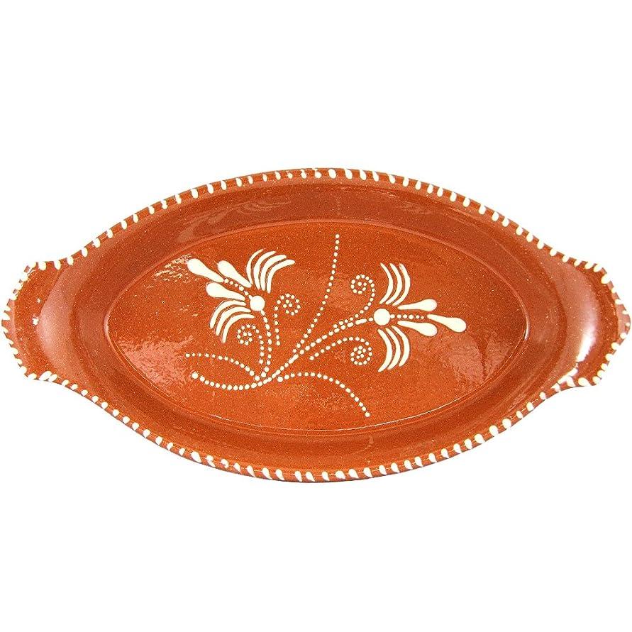 経営者ミスペンドフットボールヴィンテージポルトガル語Glazed TerracottaハンドペイントServing Platter N.1 11