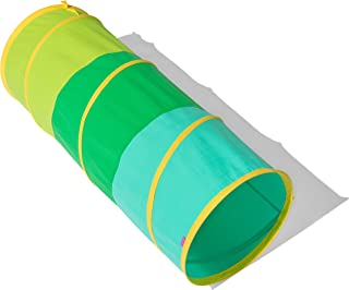 The Organic Cotton Play Tunnel by Lovevery - Pop-Up & Collapsible Play Tunnel with Organic Cotton Carrying Case, Multicolor