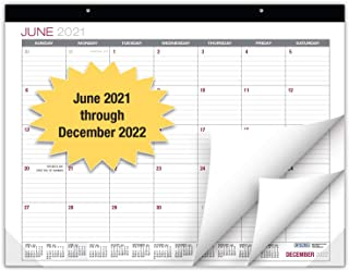 """$20 » Professional Desk Calendar 2021-2022: Large Monthly Pages - 22""""x17"""" - Runs from June 2021 Through December 2022 - Desk/Wal..."""