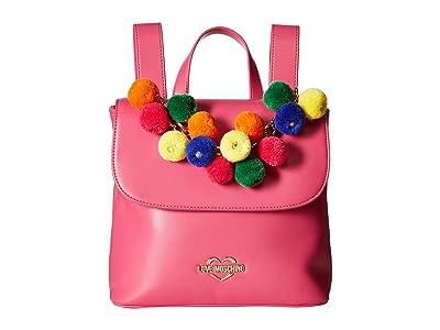 LOVE Moschino Pom Pom Backpack (Fuchsia) Backpack Bags