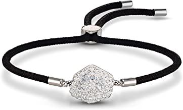SWAROVSKI Women's Power Collection Elements Black Cord Band Crystal Bracelet Collection