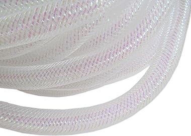 YYCRAFT One Roll 20 Yards Solid Mesh Tube Deco Flex for Wreaths Cyberlox CRIN Crafts 16mm 5/8-Inch (Shinny White)