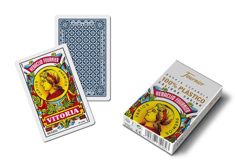 Outletdelocio. Baraja española Fournier. Calidad Casino. 50 Cartas de plastico Lavable.: Amazon.es: Juguetes y juegos