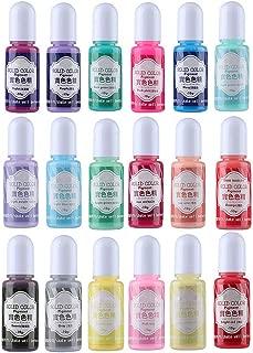 Miraclekoo 18 Colors Epoxy UV Resin Pigment Opaque Liquid Epoxy Dye Resin Colorant, 0.35oz Each