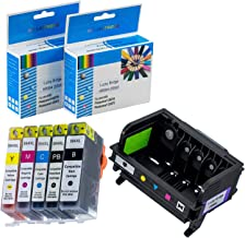 LKB Remanufactured 1PK HP564 Printhead and 5PK HP564 Ink Cartridge 5-Slot Replacement for Printer (Printhead + HP564XL Cartridge)-US