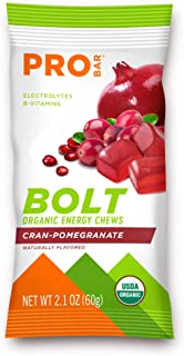 PROBAR - Bolt Organic Energy Chews, Cranberry Pomegranate, Non-GMO, Gluten-Free, USDA Certified Organic, Healthy, Natural ...