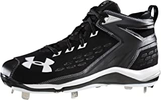 Under Armour New Yard II 5/8 ST Mens Size 16 Black/White Baseball Cleats
