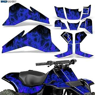 Suzuki LT80 87-06 Graphic Kit ATV Decals Sticker Quadsport LT 80 FLAMES BLUE