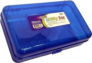 Bazic Glitter Multipurpose Utility Box, 8.4 x 6 x 2.6 Inches , Colors Vary, (1 Box), (839)
